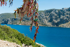 Landscape of the Aegean coast royalty free stock images