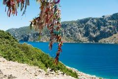 Landscape of the Aegean coast royalty free stock photo