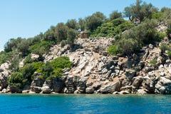 Landscape of the Aegean coast stock photography
