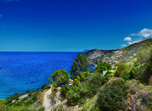 Landscape of Aegean sea Royalty Free Stock Images