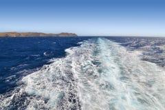 Landscape of Aegean sea Cyclades Greece royalty free stock photos