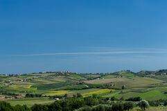 Landscape of an agriculture country Stock Photography