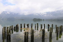 Landscape of Aiguebelette lake in France Royalty Free Stock Image