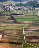 Landscape from the air Royalty Free Stock Photography