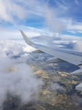 Landscape by air. With blue sky Royalty Free Stock Photography