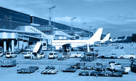 Landscape of airfield Stock Images