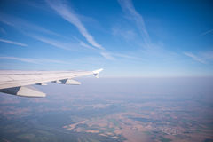 Landscape airplane view Stock Image