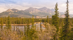 Landscape of Alaska's Scenic Wilderness Royalty Free Stock Images