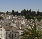 Landscape of Alberobello, Italy Stock Photo
