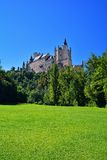 Landscape with Alcazar of Segovia in Spain Royalty Free Stock Image