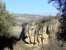 Landscape- Alhama de Granada Stock Photography