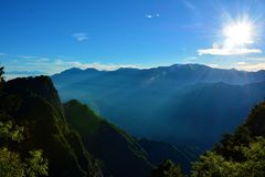 Landscape in Alishan Taiwan. Alishan National Scenic Area Stock Images