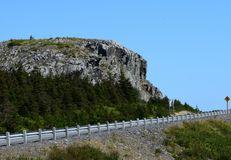 Landscape along the the Baccalieu Trail, NL Canada. Landscape along the the Baccalieu Trail; looking up to a hill along side the Veteran`s Memorial highway near royalty free stock photo