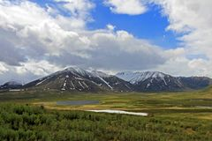 Free Landscape Along Dempster Highway Near Tombstone Territorial Park, Canada Royalty Free Stock Photography - 108617297
