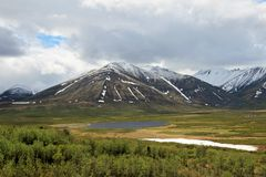 Free Landscape Along Dempster Highway Near Tombstone Territorial Park, Canada Royalty Free Stock Image - 108617616