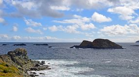 Biscayan Cove seascape, NL Canada. Landscape along the Killick Coast, Biscayan Cove seascape, Avalon Peninsula, NL Canada royalty free stock photos
