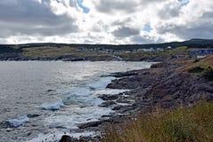 Pouch Cove coastline, NL Canada. Landscape along the Killick Coast, coastline at Pouch Cove, Avalon Peninsula, NL Canada stock photos