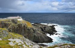 Landscape at Cape St Francis, NL Canada. Landscape along the Killick Coast, former site of the lighthouse; now a helicopter pad Cape St Francis , Avalon royalty free stock photos