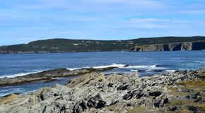Seascape near Middle Cove, NL Canada. Landscape along the Killick Coast, seascape near Middle Cove, Avalon Peninsula, NL Canada stock photos