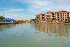 Landscape along Malacca river Stock Photos