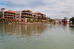 Landscape along Malacca river Stock Image