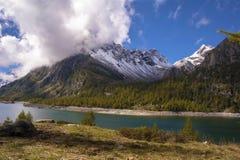 Landscape. In alpe devero during autumn Stock Image