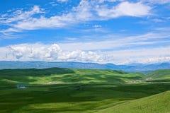 Gannan Pastoral Area. The landscape of alpine grassland in Gannan Pastoral Area in Gansu, China stock photography