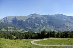 Landscape of Alpine mountain Stock Photos