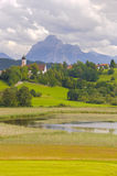 Landscape with alps mountains in Bavaria Stock Photo