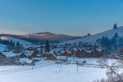 Winter in The Alps Mountains, Solden , Austria stock photo