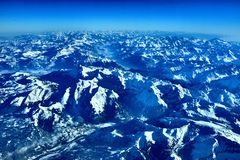 Landscape of the alps mountains Stock Images