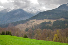 Landscape in the Alps Stock Image
