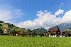 The landscape in the alps, switzerland Stock Photography