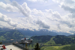 The landscape in the alps, switzerland Royalty Free Stock Photos