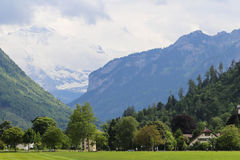 The landscape in the alps, switzerland Royalty Free Stock Images