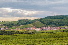 Landscape in Alsace Stock Photo