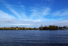 Landscape of Alster Lake Royalty Free Stock Photos