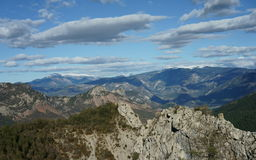 Landscape of Alt Urgell valley. View of Alt Urgell valley, in the Pyrenees mountains (Catalonia, Spain Stock Photo