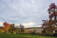 Landscape in Althengstett stock photography