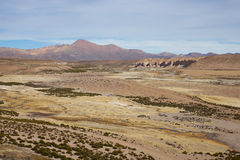 Landscape of the Altiplano Royalty Free Stock Photo