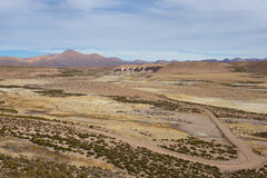 Landscape of the Altiplano Royalty Free Stock Images