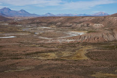 Landscape of the Altiplano Royalty Free Stock Photos