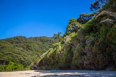 Landscape with amazing greenery of New Zealand Abel Tasman Royalty Free Stock Photography