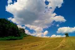 Landscape. An amazing texture of the white clouds royalty free stock images