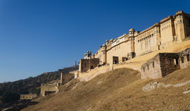 Landscape of Amber Fort in Jaipur Stock Image