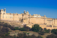 Landscape of Amber Fort in Jaipur Royalty Free Stock Photo