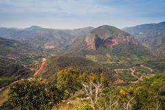 Landscape of the Amboro National Park in Bolivia stock photography