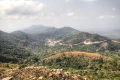 Landscape in Amedzofe, Volta Region, Ghana Royalty Free Stock Images