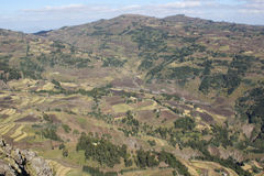 Landscape, Amhara, Ethiopia, Africa Royalty Free Stock Photos