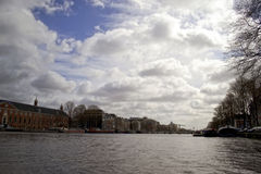 Landscape in Amsterdam, Holland Royalty Free Stock Photo